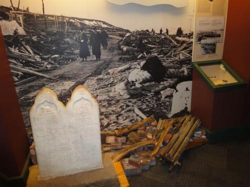 A photo of the devastation from the Halifax explosion